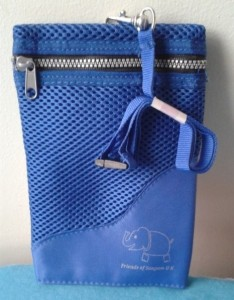 blue neck purse