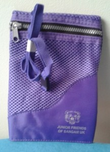 purple neck purse
